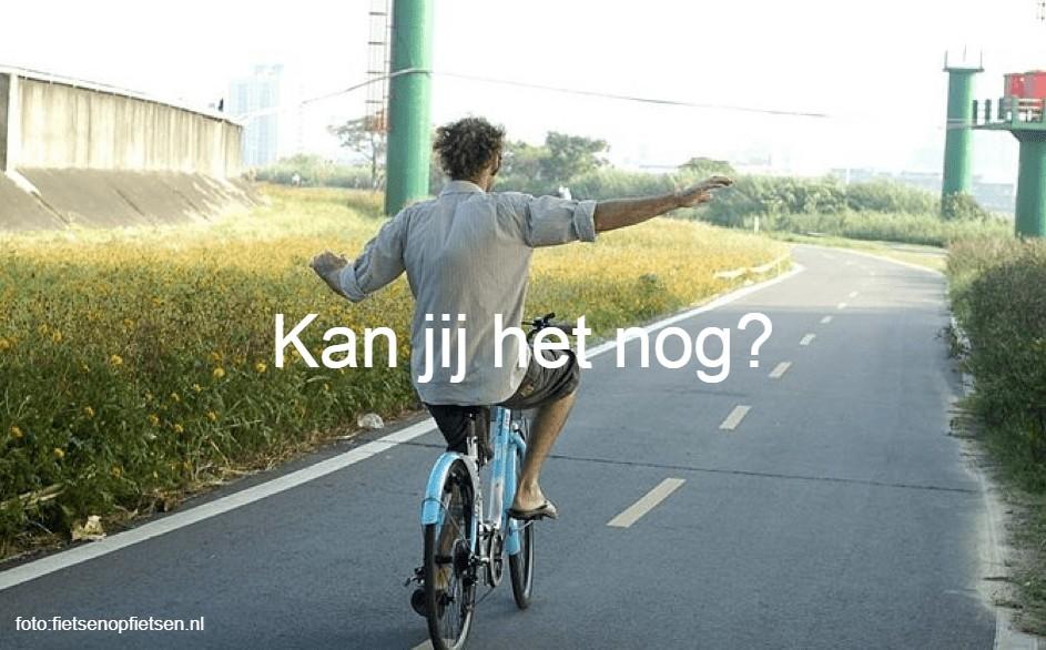 fietsen zonder handen